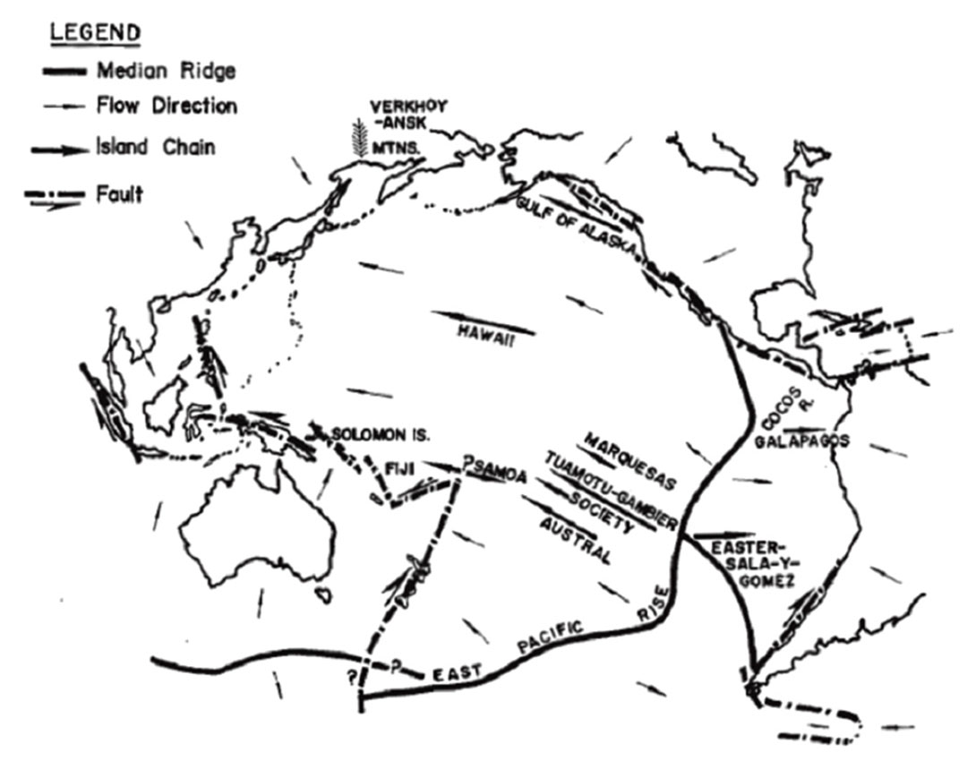 Hawaii Islands Drawing of Islands And Seamounts