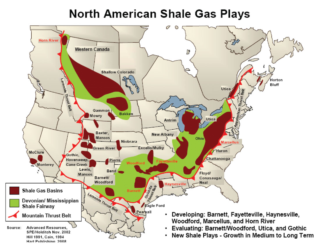 Reading Between The Lines II A NEBC Shale Gas Quantitative - Us shale play map 2016