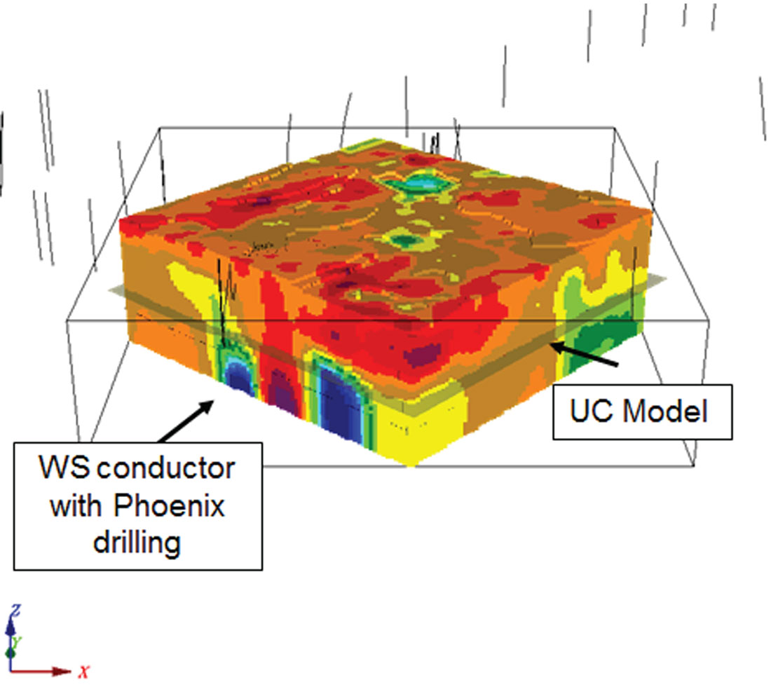 Orion 3d deep resistivity imaging at the phoenix uranium deposit figure 8 resistivity cube after inversion looking north ccuart Image collections