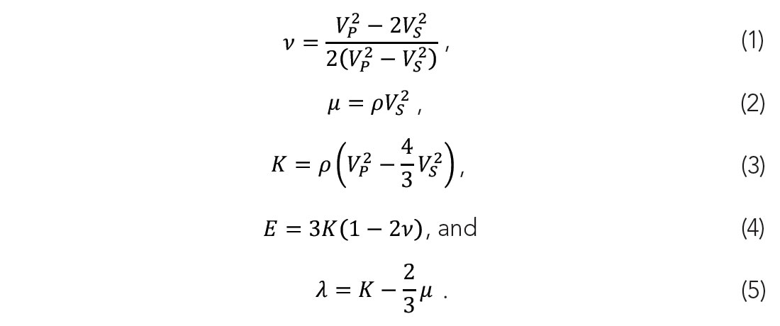 Equations 1 to 5