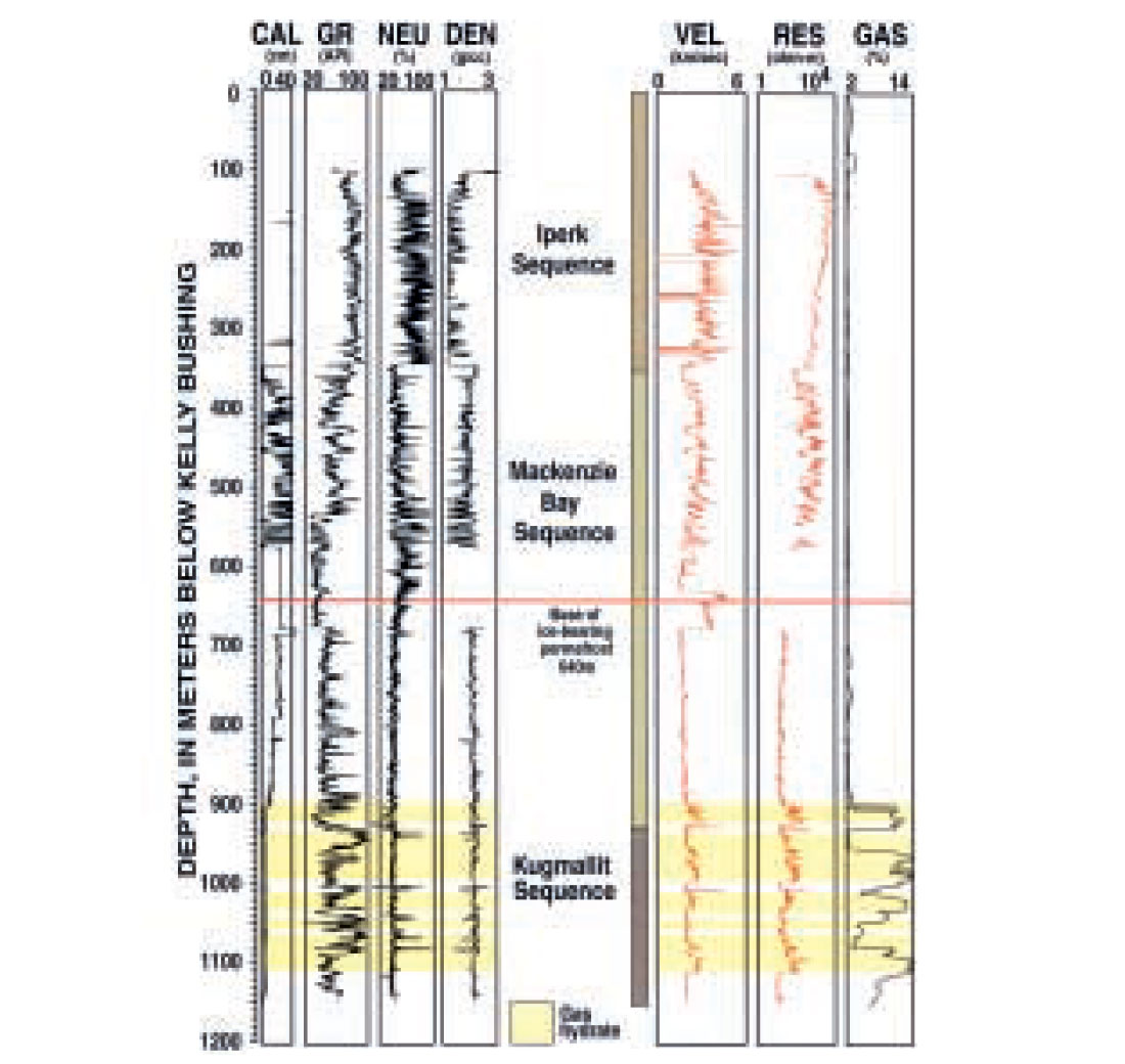 Integrated Well Log and Reflection Seismic Analysis of Gas Hydrate