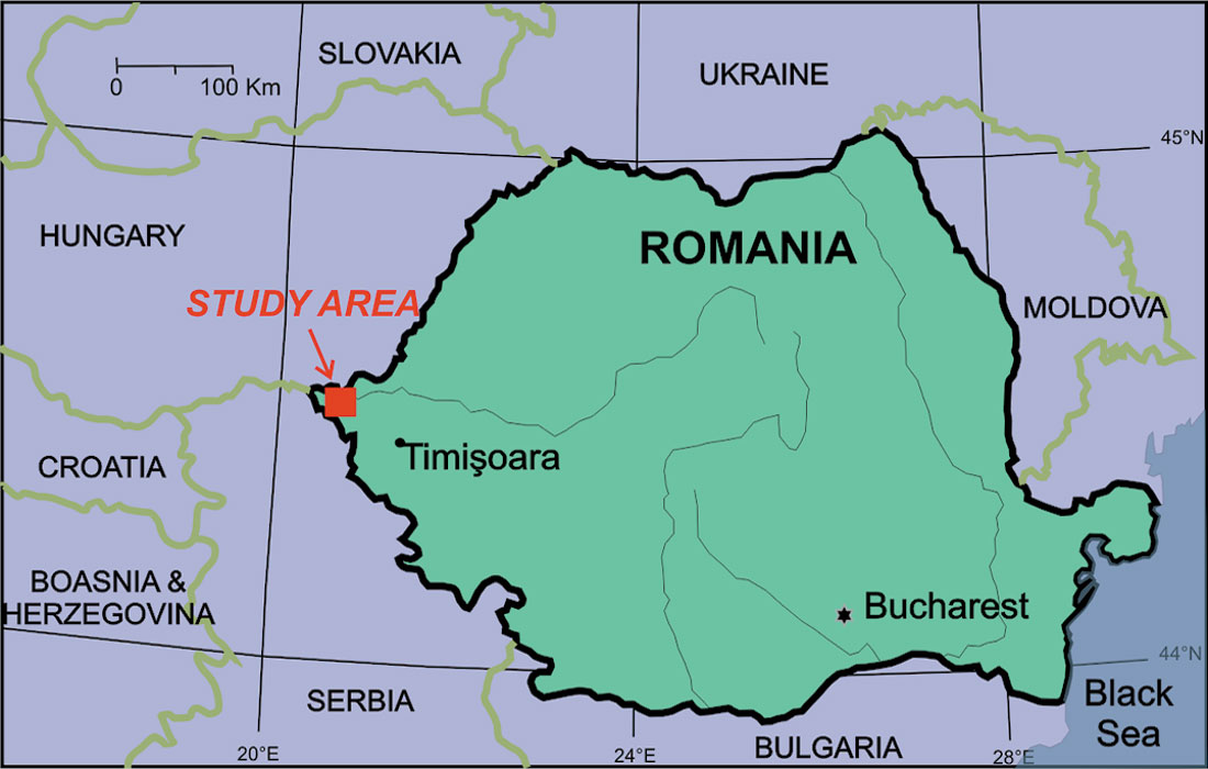Multi method geophysical prospecting of the moviola lui deciov fig 01 figure 1 map of romania and surrounding countries gumiabroncs Images