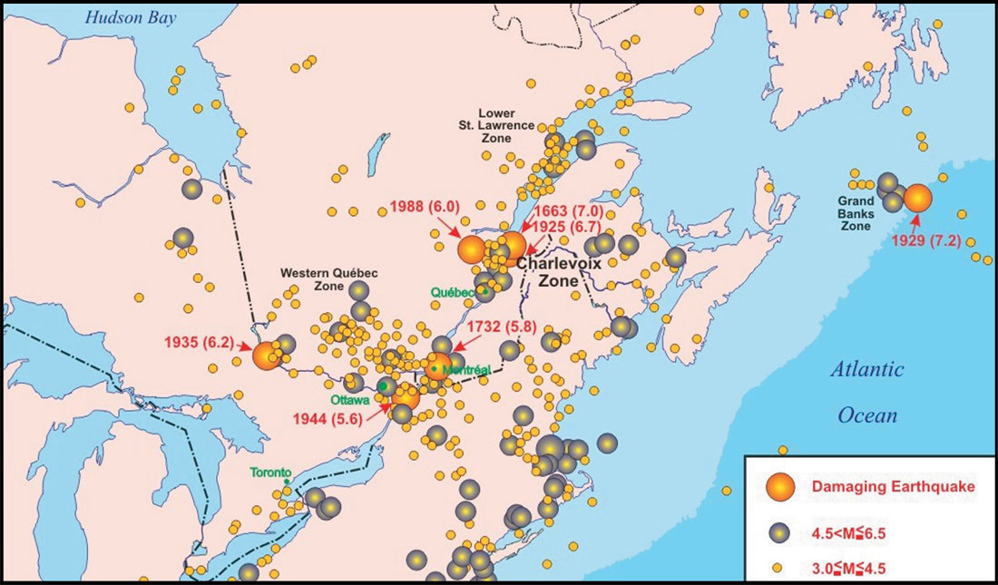 Earthquakes of the Charlevoix Seismic Zone, Québec | CSEG