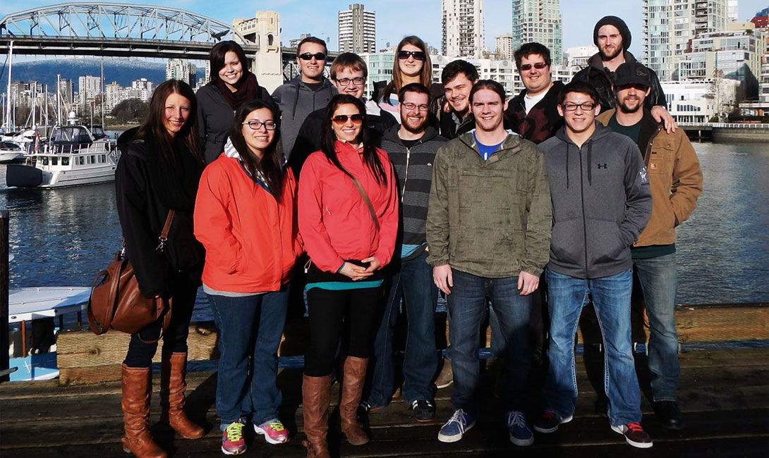 U of Regina Geology students in Vancouver for the WIUGC.
