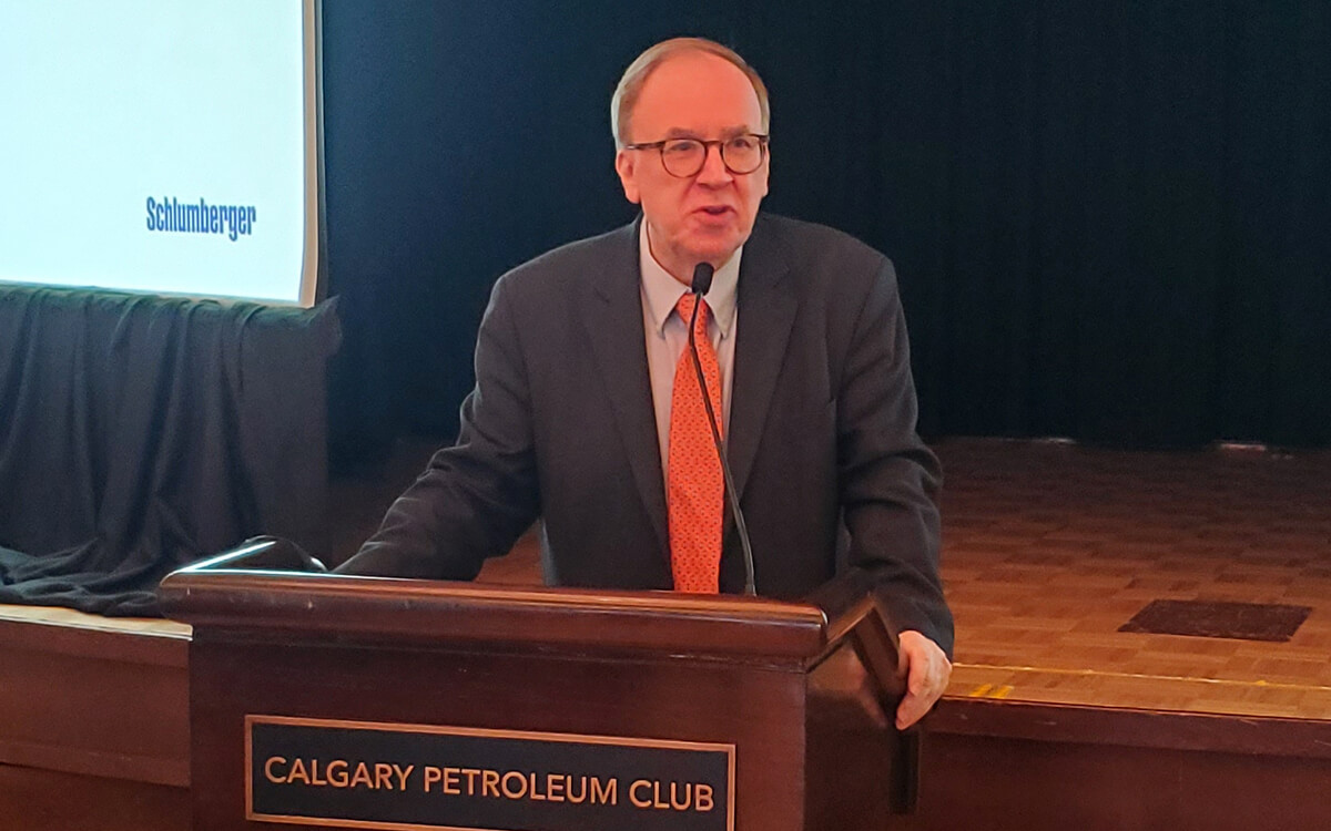 Colin Sayers speaking at Calgary Petroleum Club